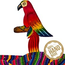 Mayan Traits Guacamaya Wooden Wall Art Decor from Guatemala. Hand Carved & Made with 100% Real Wood. Perfect for Living Room & Bedroom Wall Hangings and Home Art Decorations - Great Animal Gift.