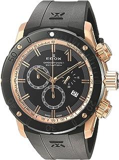 EDOX - Reloj analógico para Hombres de con Correa en Caucho 10221 37R NIR