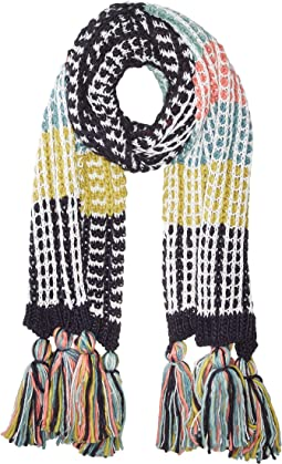 BSS3657 Oversized Knit Scarf with Tassels