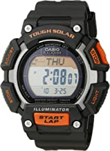 Casio Men's STL-S110H-1ACF Tough Solar Runner Digital Black and Orange Watch
