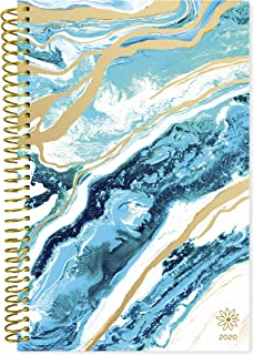 """bloom daily planners 2020 Calendar Year Day Planner (January 2020 - December 2020) - 6"""" x 8.25"""" - Weekly/Monthly Agenda Organizer Book with Tabs & Flexible Soft Cover- Geode"""