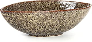 Hosley Ceramic Bowl, Mid Century Modern Ideal for Potpourri, Orbs. Ideal Gift for Wedding, Bridal, Party, Home Decor, LED Votive Tea Light Candle Gardens (14.5)
