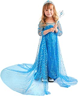 Butterfly Craze Elsa Costume for Girls, Princess Dress, Frozen Inspired, Glamour & Coziness