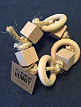 Toy for pet bunny rabbit - large ring rattle