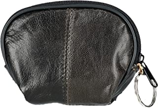 CTM Leather Compact Zipper Coin Pouch Wallet