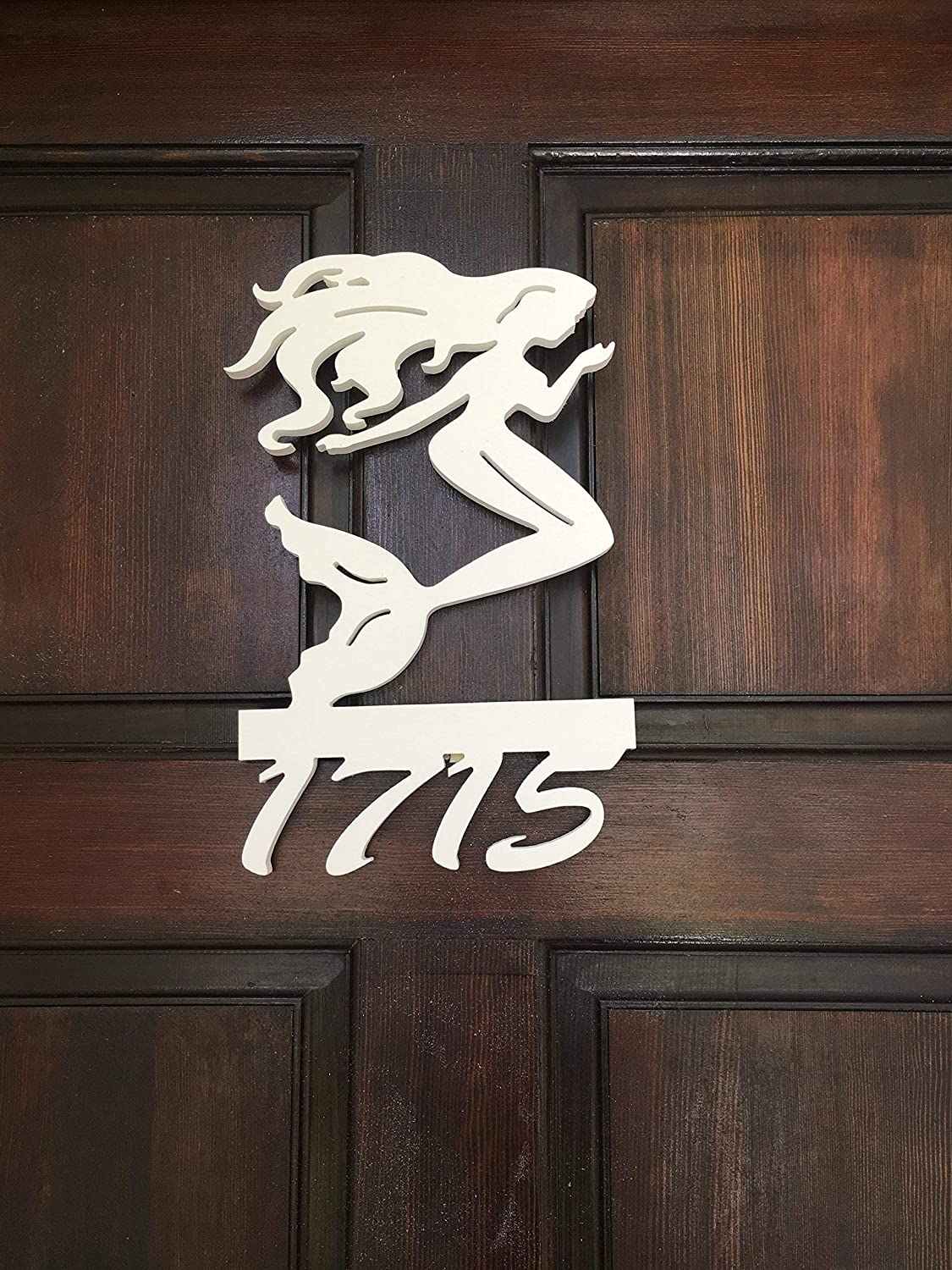 Mermaid House Number Sign All Weather mainl to PVC Shipping Max Max 76% OFF 80% OFF Free