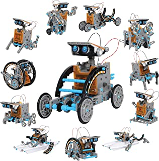 Discovery Kids Mindblown STEM 12-in-1 Solar Robot Creation 190-Piece Kit with Working..