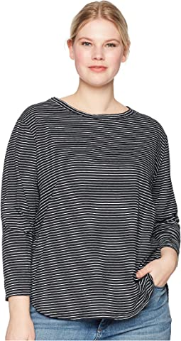 Plus Size Pinstripe Catalina Top