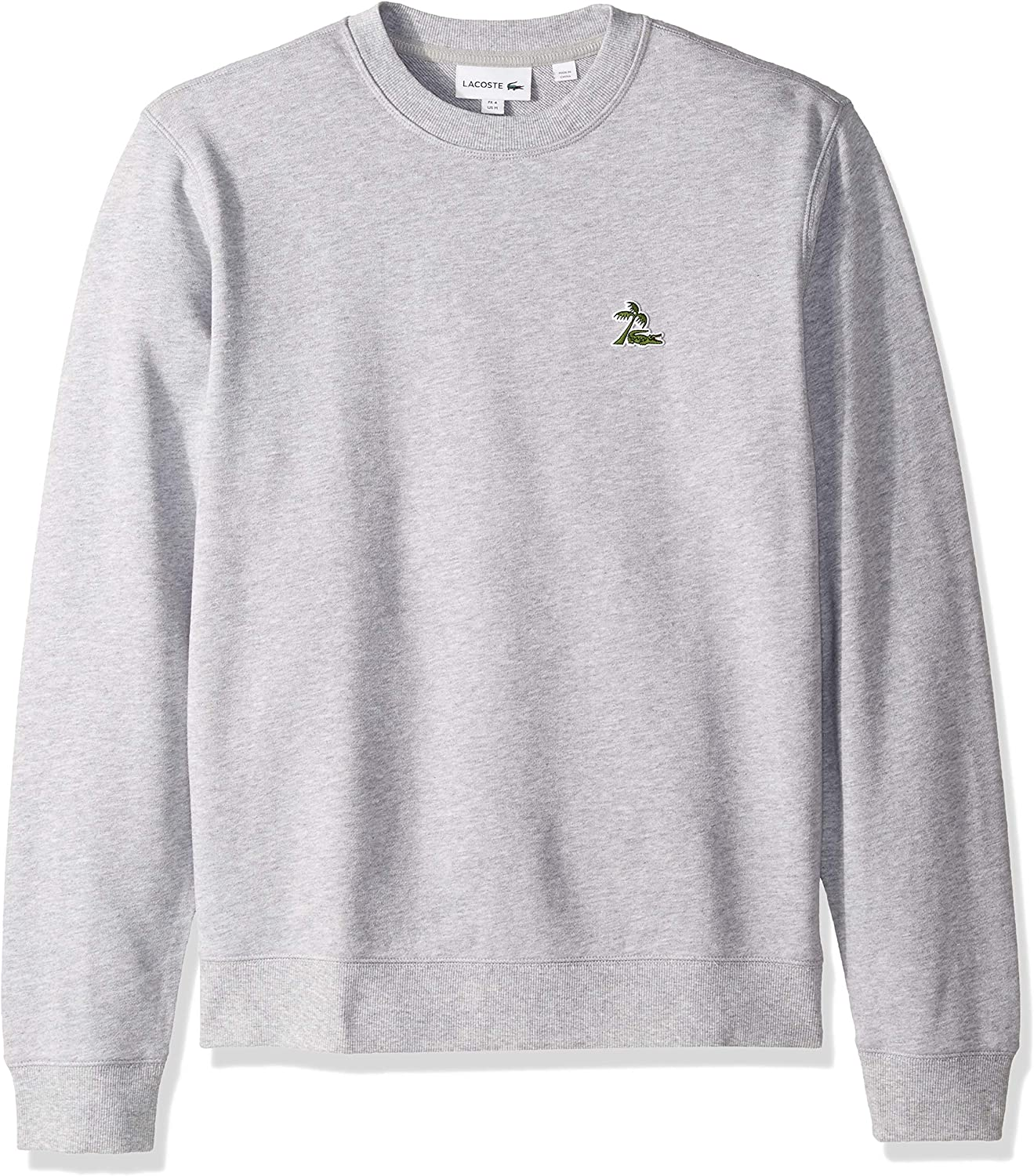 supreme Lacoste Men's Long mart Sleeve French Terry Embroidered Sweat Graphic