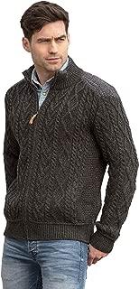 Aran Crafts Zip Cardigan/Shoulder Detail (100% Merino Wool)