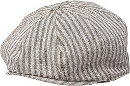 SDH3326 - Linen Blend Stripe Baker Boy