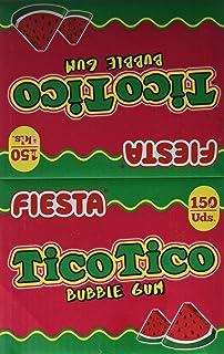 FIESTA TicoTico - Barra de chicle - Sabor sandía - 150 unidades