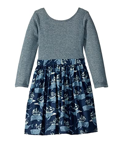 fiveloaves twofish Abbie Dress Whale (Little Kids/Big Kids) (French Blue) Girl