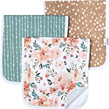 "Baby Burp Cloth Large 21''x10'' Size Premium Absorbent Triple Layer 3-Pack Gift Set ""Autumn"" by Copper Pearl"