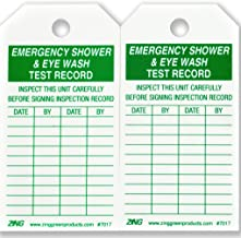 ZING 7017 Eco Safety Tag, Emergency Eyewash and Shower Inspection, 5.75Hx3W, 10 Pack