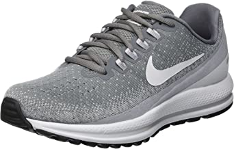Nike Women's Air Zoom Vomero 13 Running Shoe Wide (D) Cool Grey/Pure Platinum-Wolf Grey-White