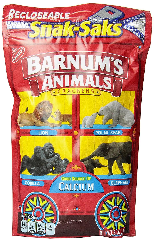 Barnum's Original Animal Crackers 12 - oz NEW before selling ☆ Charlotte Mall Snak-Saks 8