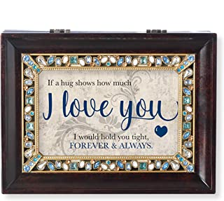 Roman Recipient Collection I Love You Jeweled Music Box Brown Large