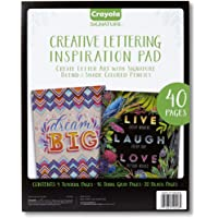 Crayola Chalkboard Hand Lettering Tutorials and Worksheets for Beginners