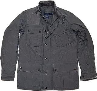 Ralph Lauren Polo Golf Mens Suede Shooting Utlity Jacket Car Coat Grey Small