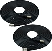GLS Audio 50ft Mic Cable Patch Cords – XLR Male to XLR Female Black Microphone..