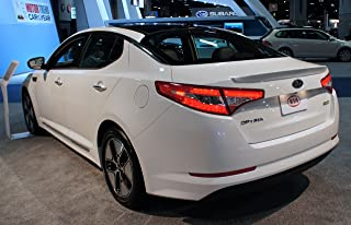 JSP Painted Rear Wing Spoiler Compatible with 2011-2013 Kia Optima IR - IRR Dark Cherry Pearl Factory Style 368051