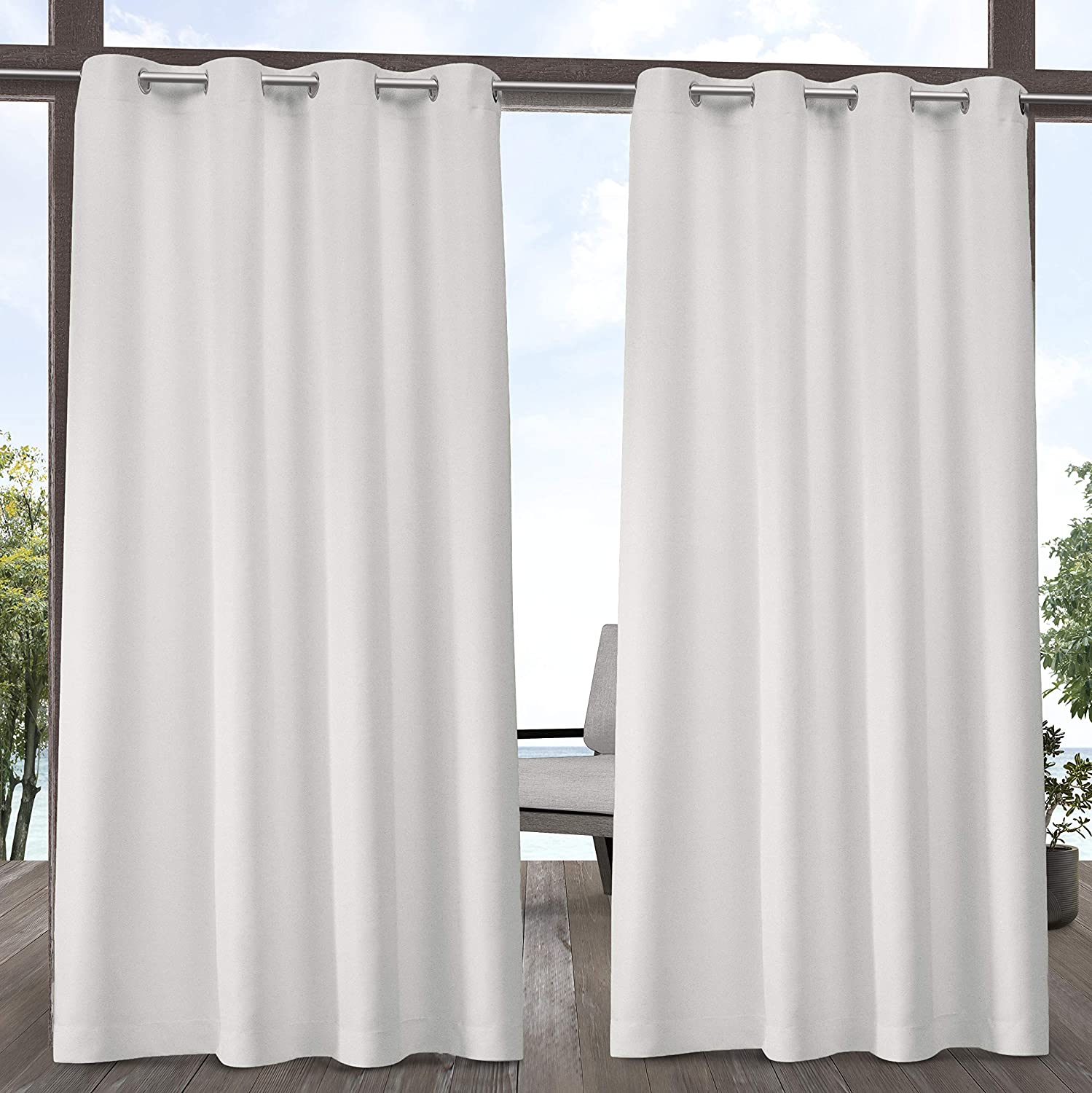 High material Max 54% OFF Exclusive Home Curtains In-Out Solid Cabana GT Top Grommet Curta
