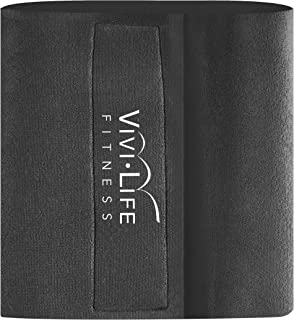 Vivilife Fitness Black Exercise Slimming Belt Designed for An Active Lifestyle, One Size Fits Most, Supports Lower Back, B...