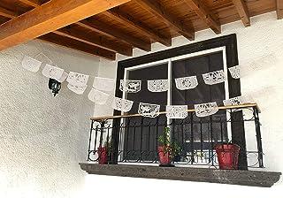 Paquete de 5 Banners de Papel Picado Blanco Para Toda