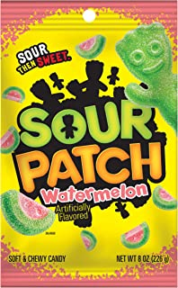 Sour Patch Kids Sweet and Sour Candy (Watermelon, 8-Ounce Bag, Pack of 12)