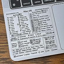 """میانبرهای صفحه کلید SYNERLOGIC Mac OS (Big Sur / Catalina / Mojave) ، برچسب پاک کننده وینیل ، چسب بدون پس مانده ، اندازه 3.25 """"x 3.25"""" ، سازگار با هر MacBook Air Pro با پردازنده M1 یا Intel"""