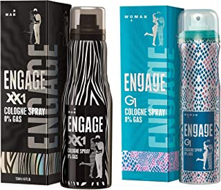 Engage Cologne Spray XX1 for Men, 135ml And Engage G1 Cologne Spray For Women, 135ml