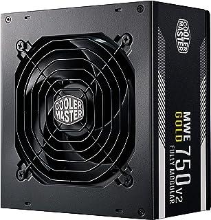 Cooler Master MWE 750 Gold V2 Fully Modular PSU (UK Plug) - 80 Plus Gold 750W Power Supply Unit, Flat Black Cabling, 120mm...