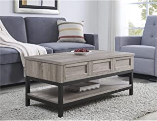 Ameriwood Home Barret, Lift Up Coffee Table, Gray Oak