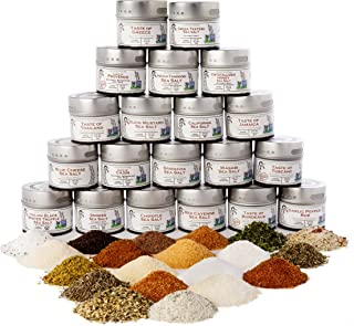 Complete Gourmet Seasonings, Spices and Sea Salts Collection - Non GMO - 20 Magnetic Tins - Artisanal Seasonings - Crafted in Small Batches by Gustus Vitae | #29