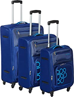 Kamiliant by American Tourister Koti Softside Spinner Luggage Set of 3, with Number Lock - Blue