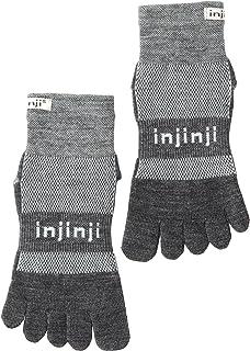 Injinji Men's Run Original Weight Mini Crew Wool Toesocks