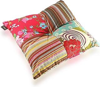 Versa Cojin Cuadrado con Relleno Patchwork, Cotton, Multicolor, 45x45