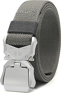 "Chaoren Mens Quick Release Tactical Belt 1.5"", Casual Military Riggers Work Belts for Men - beige - Medium"