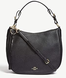 95e675cf166 Coach Sutton Black Leather Hobo Bag