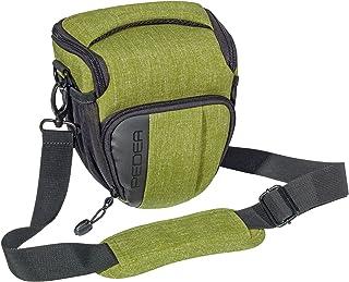 Pedea SLR Fashion Funda para Cámara Canon EOS 7d 50d 70d 5d mark iii 450d 100d 1000d EOS M3/Nikon D5500/Pentax K de 1/Sony Alpha 6000(tamaño m) color verde con protector de pantalla