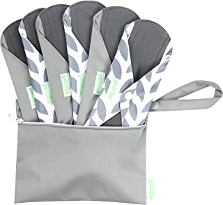 Wegreeco Bamboo Reusable Sanitary Pads (Stylish Pattern) – Cloth Sanitary Pads |..