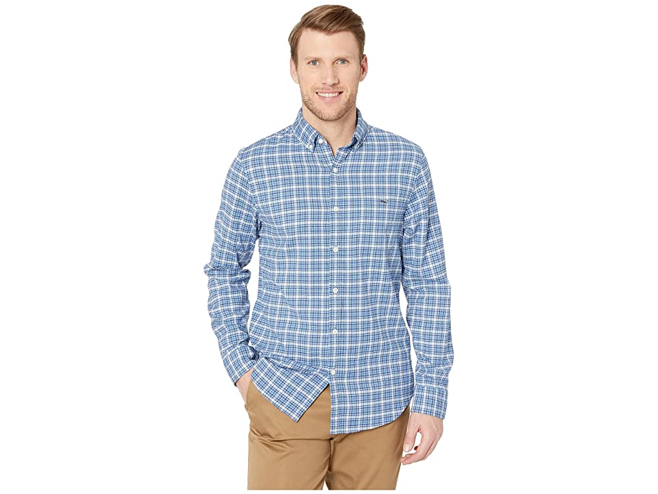 Vineyard Vines Allamanda Check Beach Flannel Slim Tucker Shirt (Moonshine) Men