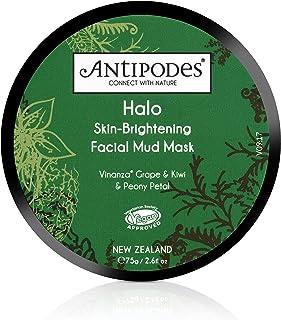 Antipodes Antipodes Halo Skin-Brightening Facial Mud Mask, 100% Natural, Cruelty-Free & Vegan 75g, 75g, 75 g