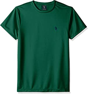 U.S. Polo Assn. Mens 11-4454-OJ Short Sleeve Poly Crew Neck Solid T-Shirt Short Sleeve T-Shirt - Beige
