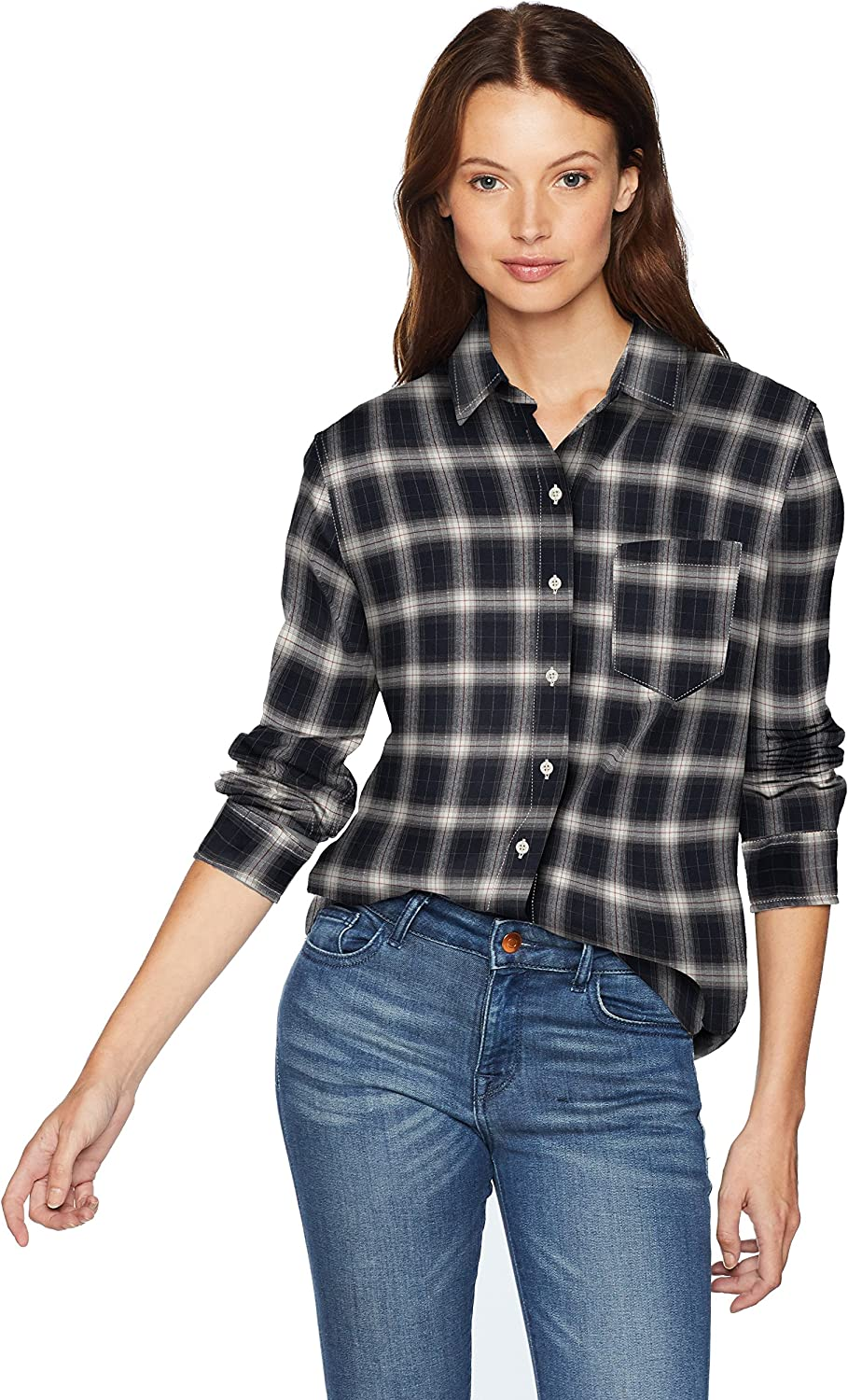 Pendleton Womens Primary Flannel Shirt Button Down Shirt