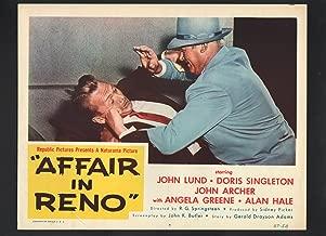 MOVIE POSTER: Affair in Reno Lobby Card #7-1957-John Lund slapping a man
