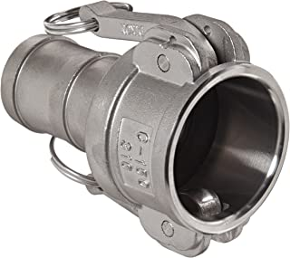 """Dixon G150-C-SS Investment Cast Stainless Steel 316 Global Type C Cam and Groove Hose Fitting, 1-1/2"""" Socket x 1-1/2"""" Hose ID Push-On"""