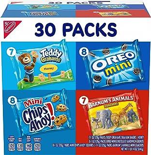 Nabisco Team Favorites Variety Pack, OREO Mini, CHIPS AHOY! Mini, Teddy Grahams Honey & Barnum's Animal Crackers, 30 Snack...