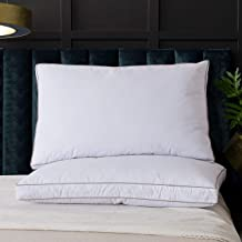 WhatsBedding Goose Down Feather Pillows for Sleeping 100% Cotton Pillow Cover with Cooling Bed Pillows - Set of 2 Queen Pillow Inserts
